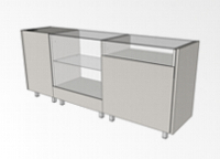 Counters thick-wall PHR depth 500mm